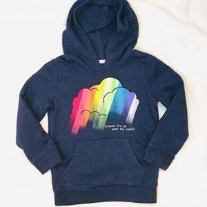 Cat & Jack Girls Navy Rainbow Hoodie